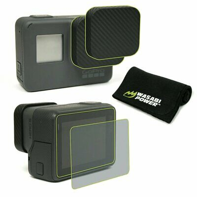 Wasabi Power Accessory BUNDLE for GoPro HERO7/HERO6/HERO5-Lens Cap/Screen protec