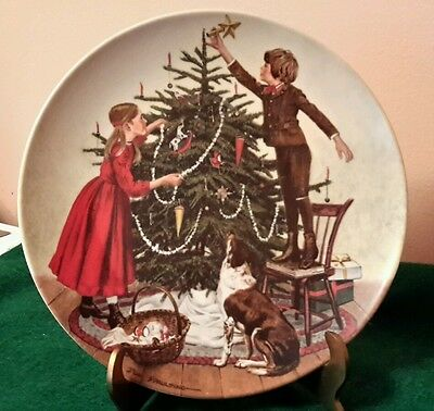 COLLECTOR PLATE Christmas 1983 Knowles Bradex: 84-K41-2.6