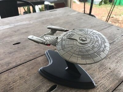 Franklin Mint Star Trek USS Enterprise D Pewter Model (1 of 2)