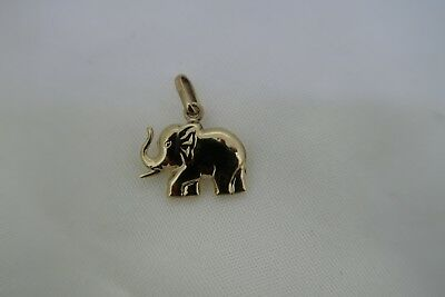 9Ct Gold Elephant Pendant Charm