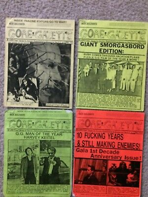Gore Gazette, Horror Films, Exploitation Films, classic Zine, 4 Issues, rare,