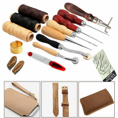 14pcs Leather craft tools Hand Sewing Stitching Groover Tool Kits