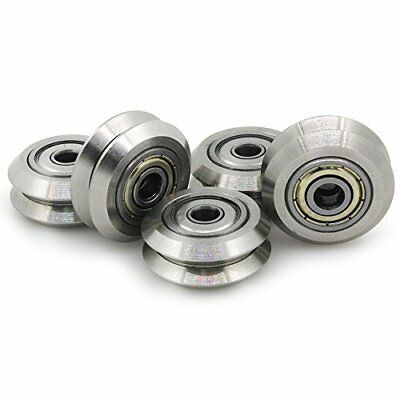 Witbot Double V Slot stainless steel Passive Round wheel with Bearings Idler ...