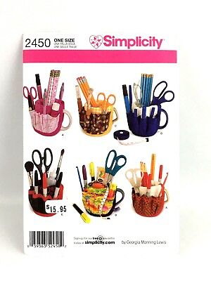 Simplicity Pattern 2450 One Size Mug Covers Great Gift Idea Teachers Crafts Sew