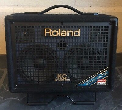 Roland Kc-110 Stereo Keyboard Amplifier Portable Stereo With Battery - Ac Power