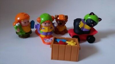 Fisher price little people skater cat,dog and kids