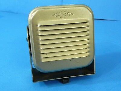 Vintage Metal MISCO Ham Radio Speaker with Mount Gold Color External Speaker