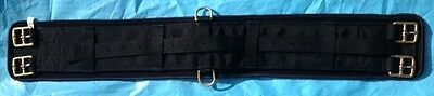 "Neoprene Backed Webbing Campdraft Girth 28"" Black"