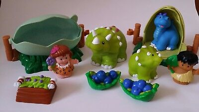 Fisher Price little people dinosaurs, eggs and little people