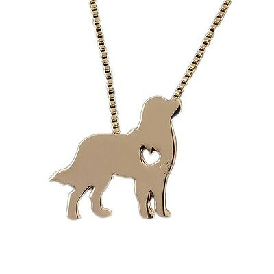 NEW Golden Retriever Shaped Charm Pendant Necklace