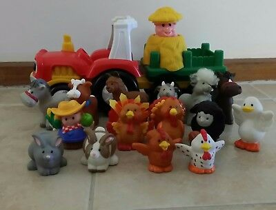 fisher price little people hey tractor and lots of farm animals