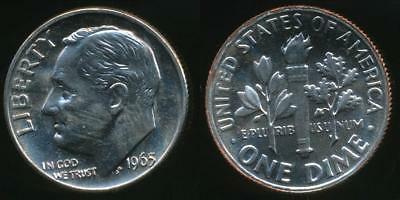 United States, 1965-SMS Dime, Roosevelt - Choice Uncirculated