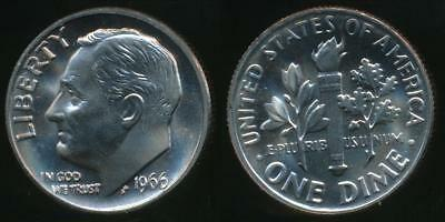 United States, 1966-SMS Dime, Roosevelt - Choice Uncirculated