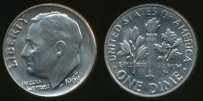 United States, 1969-D Dime, Roosevelt - Choice Uncirculated