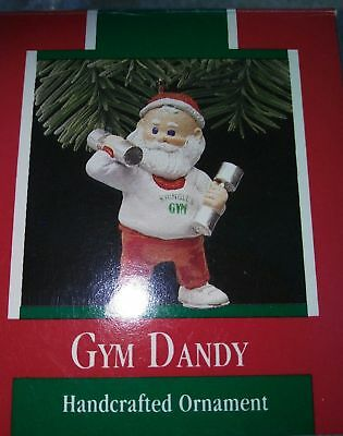 Keepsake Ornament. Santa Gym Dandy Hallmark  1989