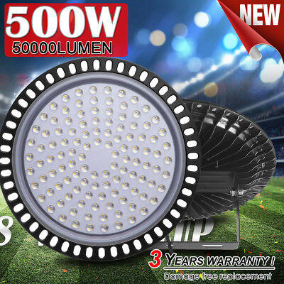 100W Ultra-thin LED High Bay Light Commercial Warehouse Industrial Factory Shed