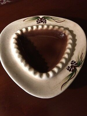 Retro Ashtray, ROMCO Pottery, Rocky Mountain Pottery, Pine Cone Ashtray 1960s