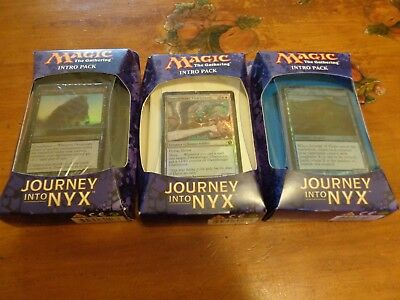 *3 X Magic The Gathering Journey Into Nyx Intro Packs-Sealed*