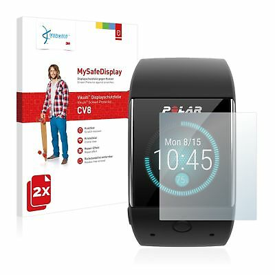 Polar M600, 2x Vikuiti™ MySafeDisplay Screen Protector CV8 from 3M crystal-clear