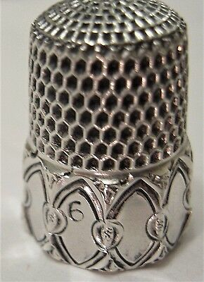 Georgeous! Simons Sterling Silver Childs Thimble - Mint -
