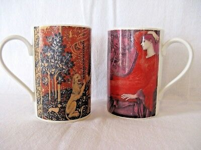Dunoon Stoneware Mugs - Designs taken from Tapestry and 19th Century Paintings