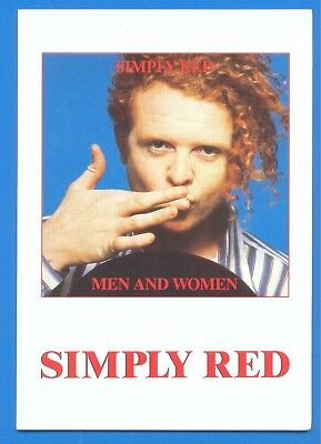Simply Red.men And Women.folding Card Published 1987,