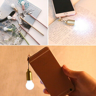 Creative Ballpoint Pen With Lamp 0.38mm School Office Writting Tool Supplies NEW