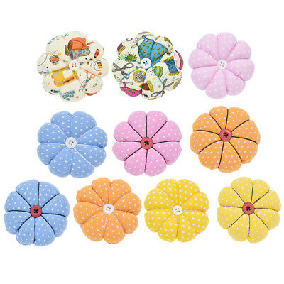 Flower Pumpkin Pin Cushion DIY Fabric Sewing Needles Pin With Elastic Wrist Belt