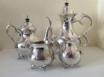 Silver Plated Tea & Coffee Set  Early 20Th Century