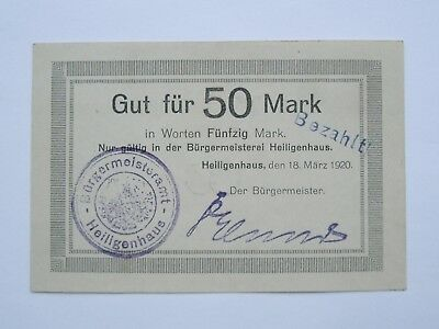 Heiligenhaus 50 Mark 18.3.1920