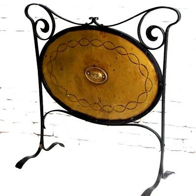 English Arts and Crafts Brass Fire Screen - FREE Shipping [PL4142]
