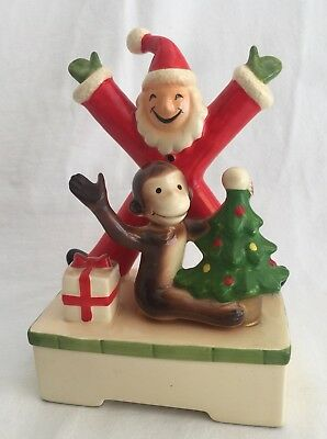 Vintage 1981 GORHAM Curious George Christmas Music Box Very Rare Nursery Decor