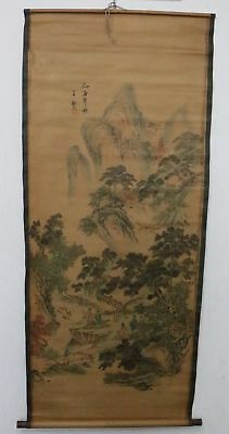Old Collection Scroll Chinese Painting /Character&Landscape Painting ZH1035