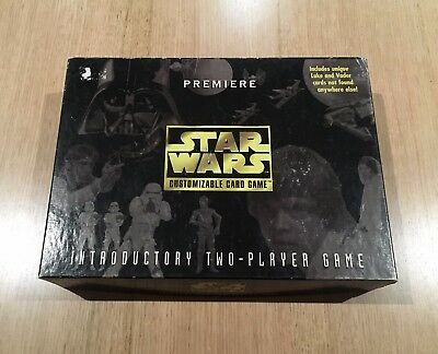 STAR WARS 1995 Customizable Card Game - Introductory Two-Player Game - PREMIERE