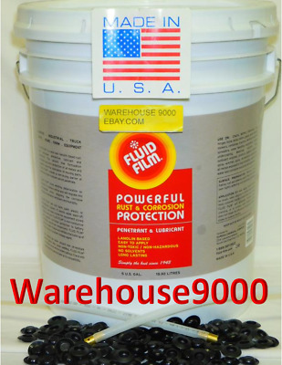 5 GAL FLUID FILM NAS Undercoating 100 plug Free Pro 360* & Straight Wand,Gloves