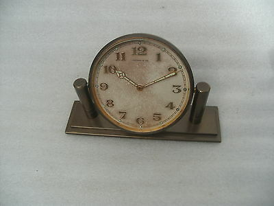 Vintage Tiffany & Co 8 Day Bronze Clock