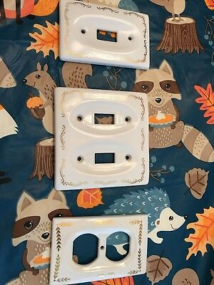 Vintage mid-century Light Switch and Outlet Covers