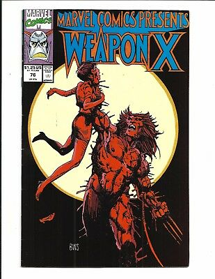 Marvel Comics Presents # 76 (Wolverine Weapon X, 1991), Vf+