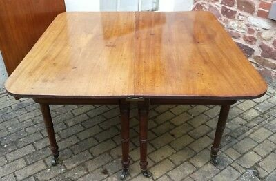 George IV Mahogany D-End Extending Dining Table - c. 1820 (Antique Georgian)