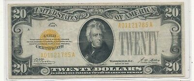 1928 $20 gold note