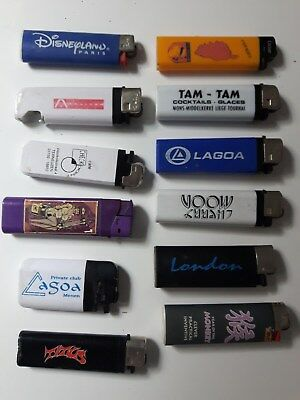 Lot Briquet Lighter Titus Disnez La Goa Cherry London Cubar Nurse Techno
