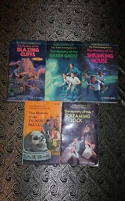 Lot of 5 Alfred Hitchcock and The Three Investigators books PB Vintage