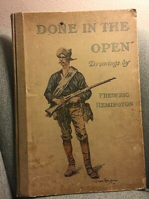 DONE IN THE OPEN - Drawings By Frederic Remington 1902 Edition w/No Loose Pages