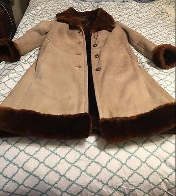 Vintage Full Length Modell And Suede Coat Freshly Cleaned Conditioned Repaired