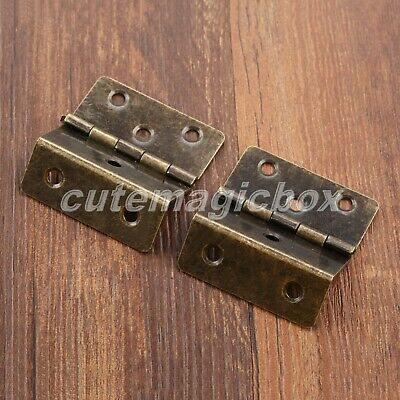 Vintage Small Metal Folding Hinges Wood Box Cupboard Drawer Cabinet Door Hinges