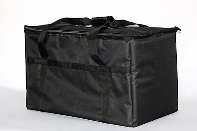 """Hot Food Warm Carry Transport 23X13X15"""" Big Insulated Delivery Bag Travel Black"""