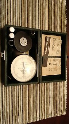 Antique Tachometer Herman H. Sticht Co. in Case and with Original Documents.