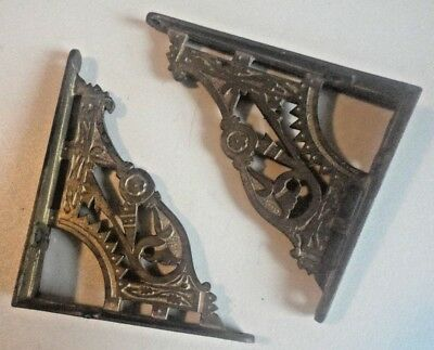 Antique Gothic Decorative 19th Century Shelf Brackets  Not Reproductions