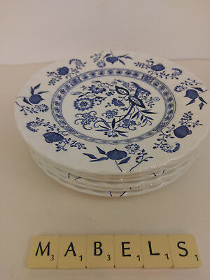 "J & G MEAKIN ~CLASSIC - BLUE NORDIC~ 7"" side plates x 6"