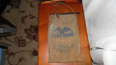 Vintage Eagle Brand Canvas Water Bag Used and Faded